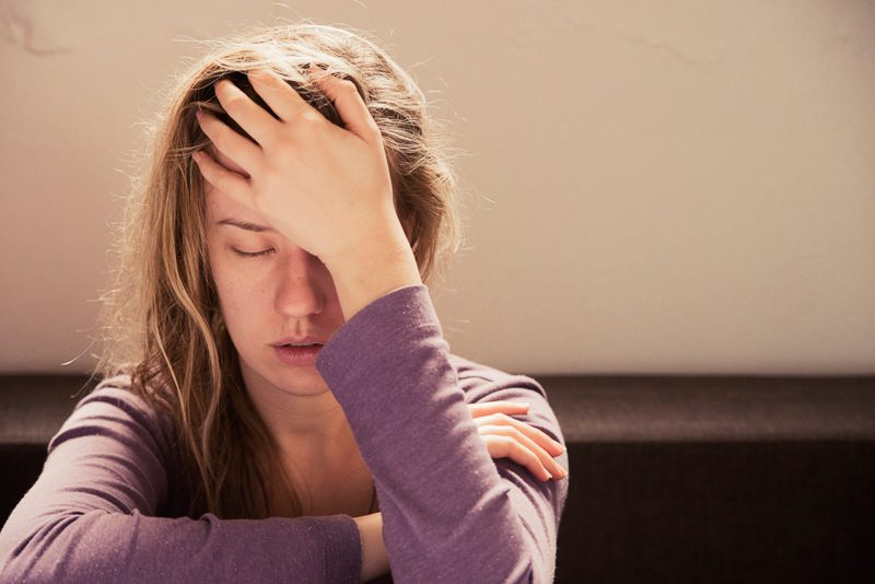 Exhausted Woman with Delayed Sleep Phase Syndrome