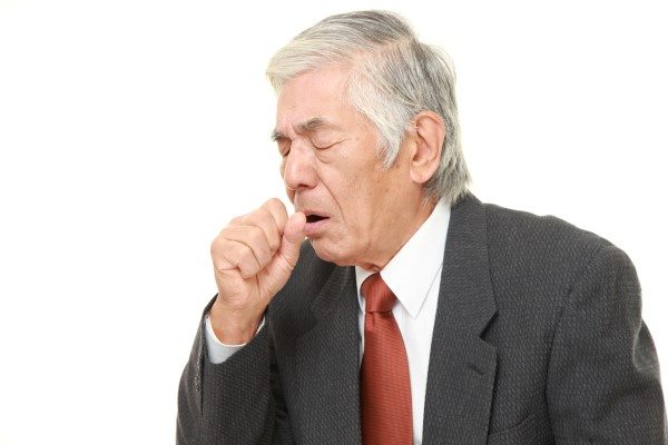 Man Struggling with Inflammatory Disease of the Lungs